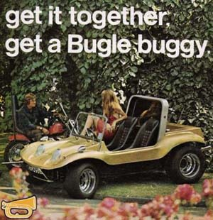 Bugle Buggy Promotional Press Advert